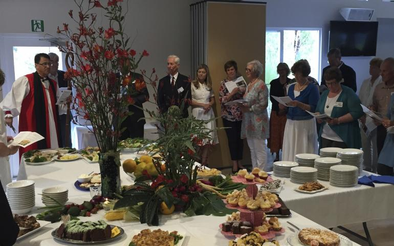 Celebration feast with Bishop Allan Ewing and guests